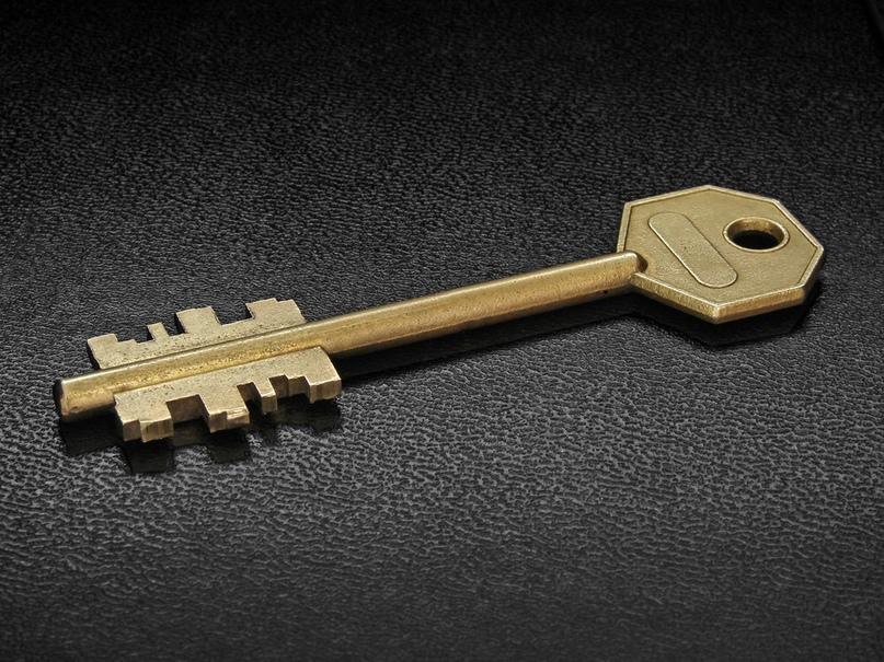 Сувальдный ключ от замка