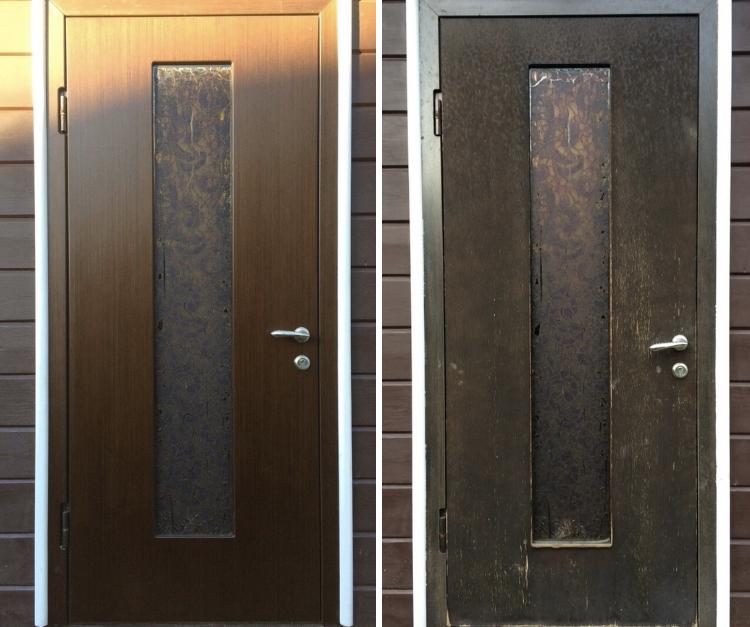 Установка панели на металлическую дверь в Самаре