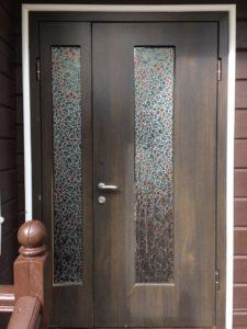 Замена панелей МДФ двери со створкой
